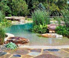 1000 images about backyard pools on pinterest small - Swimming pools made to look like ponds ...