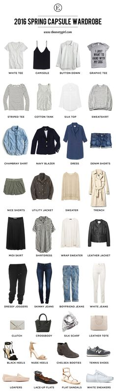 Our Step-By-Step Guide to Building a Spring Capsule Wardrobe - The EveryGirl with Capsules