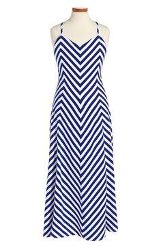 Ralph Lauren Cotton Stripe Dress (Toddler Girls & Little Girls)