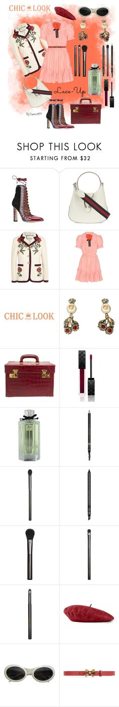 """Chic Look / Lace-Up"" by emperormpf ❤ liked on Polyvore featuring Paula Cademartori and Gucci"