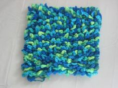 square loop textured pillow free crochet pattern
