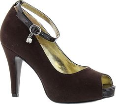 8354a57b1 Beacon Women s Shoes in Chocolate Color. Contrast trim takes this pump from  basic to bombshell