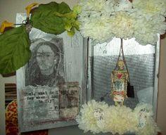 Frida Kahlo Mixed Media Shrine by catrinacreations on Etsy