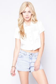 90s Lullaby - LESLIE WHITE TOP, $17.90 (http://www.90slullaby.com/shop/crop-tops-now/leslie-white-top/)