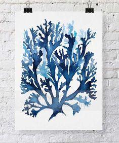 Seaweed II in Indigo Blue - Driftwood Interiors