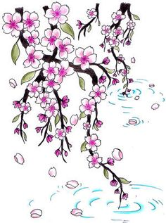 cherry blossom tattoo designs | Tattoo Designs, Japanese Tattoos, Cherry Blossom Tattoo,