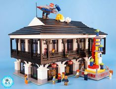 Brick built replica of the Disney LEGO Shanghai Store