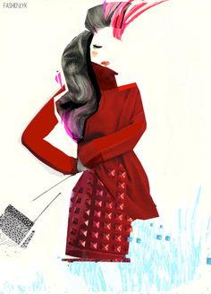 "fashionłyk - fashion illustration by karolina niedzielska, ""cut/paste"""