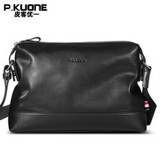 P.KUONE 2017 New Design Genuine Leather Handbag Men Shoulder Bag High  Quality Male Messenger. Crossbody Bags ... cd16f94527f31