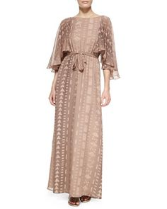 Zara Silk Open-Back Maxi Dress by korovilas at Neiman Marcus.