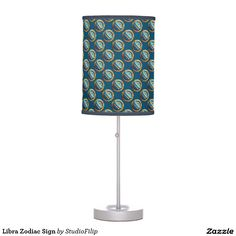 Libra Zodiac Sign Desk Lamps | 30% OFF Spooktacular Essentials: coasters, favor boxes, wine charms, serving trays, posters, tablecloths, table runners, plates, platters, packs of cake pops, packs of cookies, chocolate boxes, frosting rounds, invitations, greeting cards, photo cards, postcards, and/or cheese boards - USE Code ZSPOOKYSCARY | 15% Off All Other Zazzle Products. | Valid through October 8, 2015 at 12:59:59 PM PT