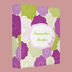Fun Flower Blossoms 3 Ring Binders by joacreations
