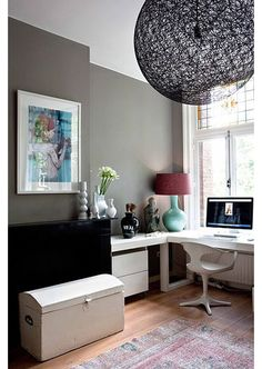 Home office ideas - Home and Garden Design Idea's   #buyahomeinutah #www.buyahomeinutah.com #remax  #realestate #homes #home #house #mattandjosh #realhomewarranty