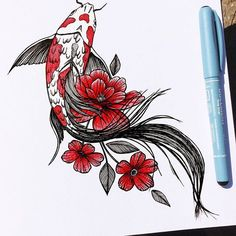 Red Ink Tattoos, Dope Tattoos, Anime Tattoos, Pretty Tattoos, Body Art Tattoos, Small Tattoos, Sleeve Tattoos, Tattos, Pisces Tattoo Designs
