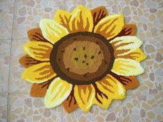 table mat oval carpet round Alfombras Special Single Sunflowers Carpet Bedroom Anti-slip mat Rug Pad of floor mat