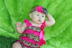 Hot Pink and Leopard Print Ruffled Petti Romper Pettiromper- Photos, Birthdays, Pageants. $22.00, via Etsy.