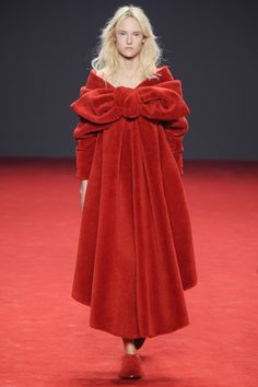 VELVET. A multitude of designers rediscovered this most tactile of fabrics for next season: Emilio de la Morena, House of Holland, John Rocha, Vivienne Westwood, Michael Van Der Ham, Emilio Pucci and Nina Ricci all got touchy feely. Viktor Rolf Couture AW14