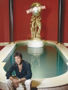 Al Pacino on the set of Scarface, 1983.
