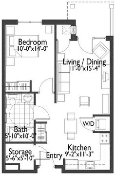 One Bedroom 650 Square Feet