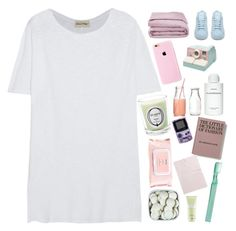 """✨🌙and i need you to need me to stay 🌙✨"" by grunge-alien ❤ liked on Polyvore featuring American Vintage, adidas, Frette, Byredo, Qualitas Candles, Mamonde, Tartine et Chocolat, Supersmile, Carven and 5sos"