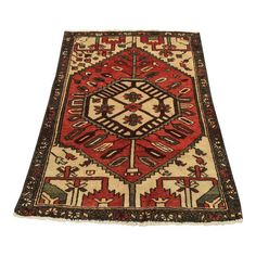 Image of Vintage Persian Hamadan Area Rug - 3′2″ × 4′6″