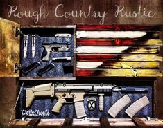 """Charred """"Dont Tread On Me """" American Deluxe Concealment Wall Art Hidden Gun Cabinets, Dont Tread On Me, Concealed Carry, Discount Furniture, Custom Furniture, Wood Projects, Guns, Rustic, Wall Art"""