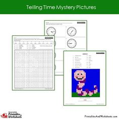 Grade 2 Telling Time Coloring Worksheets Sample 2 Coloring Worksheets, Coloring Pages, 2nd Grade Math Worksheets, Color Activities, Telling Time, Grade 2, Mystery, This Or That Questions, Student
