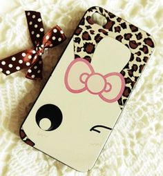 New Cute Leopard Pattern Rabbit Face iPhone 5 Hard Case Cover