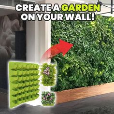 Jardin Vertical Diy, Vertical Garden Design, Vertical Planter, Diy Garden, Garden Projects, Balcony Garden, Garden Tools, House Plants Decor, Plant Decor