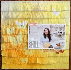 love the bright colors on this scrapbook layout by kp   This is DEAR LIZZY paper --- so cute!  gotta have some....!   #scrappetizer