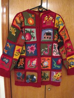 This was an amazing piece of work brought to me by a customer whose mother made several others just like it (plus afghans.) She no longer had the pattern and doesn't know where it came from, ...