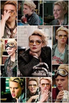 Holtzmann - Love her ❤ I have literally only seen this movie once (sob) and Holtzmann is a treasure Ghostbusters Characters, Ghostbusters 2016, Ghost Movies, Top Movies, Leslie Jones, Kate Mckinnon, Ghost Busters, Carmilla, Curly Hair Cuts