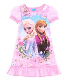 Girls' Disney Frozen Is In Sleep Gown Polyester - FLAME RESISTANT FABRIC Short cinched sleeves, Ruffle detail on hemline, Crew neck Anna Elsa Graphic print on front Soft and comfortable Machine wash cold, turn garment inside out Frozen Outfits, Disney Outfits, Girl Outfits, Disney Clothes, Anna Frozen, Disney Frozen, Pijama Frozen, Girls Sleepwear, Kids Pajamas