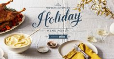 Your Personalized Holiday Menu Awaits You