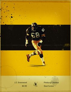 NFL's Greatest Defenses - 1970's Pittsburgh Steelers by Jon Rogers, via Behance