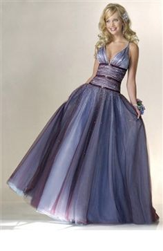 Purples Floor-length Ball Gown Tulle Sweet 16 #Dress Style Code: 00213 $149