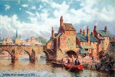 A collection of old postcards of the City of Durham in North-East England. Durham City, St Johns College, North East England, Old Images, Most Beautiful Cities, Old Postcards, Cathedral, Bridge, The Past