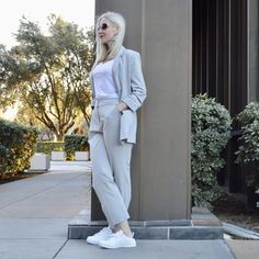 modern power suit for her, JD Williams review, versatile separates, spring trends, style over 40, style over 50, sophisticated style, casual style, California casual style, androgynous style, trend alert