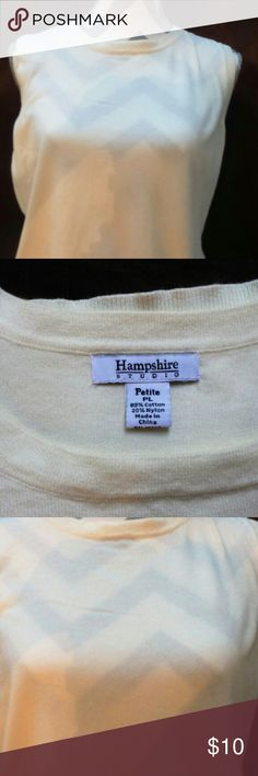 A white Hampshire Studios Tank Top A very nice and comfortable Hampshire Studios Tank Top!! It has a round neck and looks good as a top,  or underneath any outfit ;) Hampshire Studios Tops Tank Tops