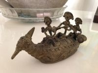 Dhokra - 3 musicians on Boat-3inches height-6 inches length