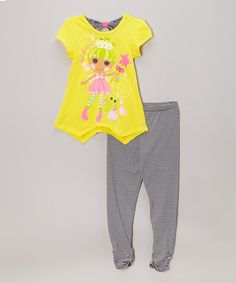 Another great find on #zulily! Yellow Lalaloopsy Shirt & Leggings Set - Girls by Lalaloopsy #zulilyfinds