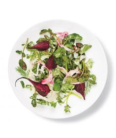 A tangy buttermilk dressing mixed with a variety of fresh herbs complements earthy beets and fennel in this fresh market salad. Cutting the beets into wedges before roasting cuts down the oven time to just 20 minutes.