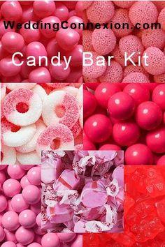 WeddingConnexion,com - Pink candy buffet candy kit.