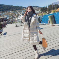 Авангардный, модная длинная теплая женская куртка с небольшой застежкой с двойным рядом пуговиц купить в русскоязычном Таобао - Tao.ru, магазине товаров из Китая, как Али Экспресс, только надежнее!
