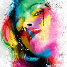 Patrice murciano tatto shop arte colorido, pinturas y art Simple Acrylic Paintings, Colorful Paintings, Beautiful Paintings, Canvas Paintings, Acrylic Art, Graffiti Art, Street Graffiti, Murciano Art, Patrice Murciano
