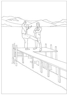 From Modern Tosss Mindless Violence Colouring Book