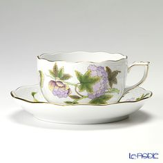 Herend Royal Garden Tea cup and saucer Green