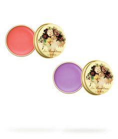 tinted lip balms from the japanese brand LM Laduree <3 gosh, just look at those pretty flowers! has such a royal feel to it!