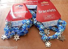 Disney Frozen Birthday Party Favors/Gifts Snowflake Bracelets (9) Ships Fast~HTF