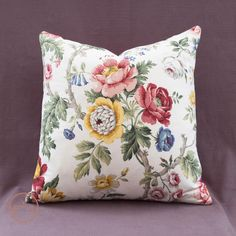 Vintage Fabric Floral Cushion in Sanderson' Hykenham' fabric – Phillips & Cheers
